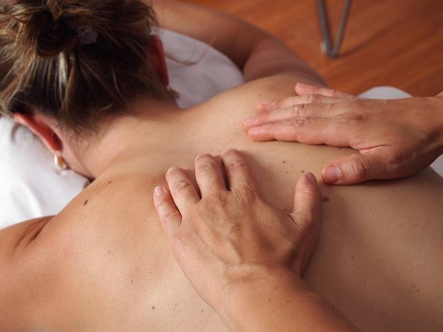 Massage einer Frau